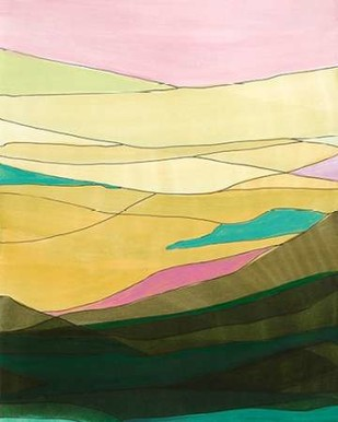 Pink Hills I Digital Print by Fuchs, Jodi,Minmalism