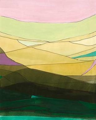 Pink Hills II Digital Print by Fuchs, Jodi,Minmalism