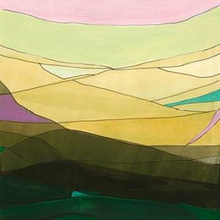 Pink Hills II Digital Print by Fuchs, Jodi,Minimalism