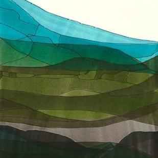 Blue Hills II Digital Print by Fuchs, Jodi,Impressionism