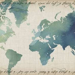 Watercolor World Map Digital Print by Popp, Grace,Decorative