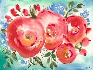 Bed of Roses I Digital Print by Minasian, Julia,Impressionism