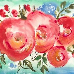 Bed of Roses I Digital Print by Minasian, Julia,Impressionism