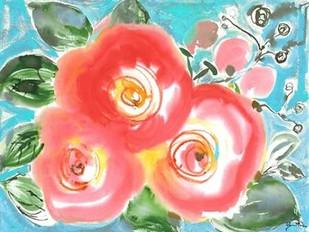 Bed of Roses II Digital Print by Minasian, Julia,Impressionism
