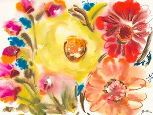Bed of Roses IV Digital Print by Minasian, Julia,Impressionism