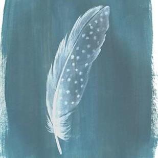 Feathers on Dusty Teal III Digital Print by Popp, Grace,Decorative