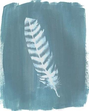 Feathers on Dusty Teal VIII Digital Print by Popp, Grace,Minimalism