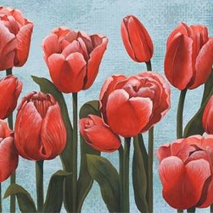 Ruby Tulips II Digital Print by Popp, Grace,Impressionism