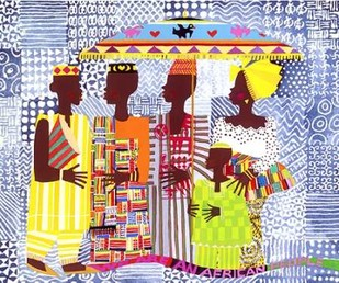 We Are African People Digital Print by Honeywood, Varnette,Pop Art