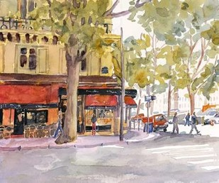 Early Morning Paris Digital Print by Fagan, Edie,Impressionism