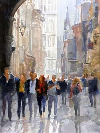 Ancient Avenue Digital Print by Fagan, Edie,Impressionism