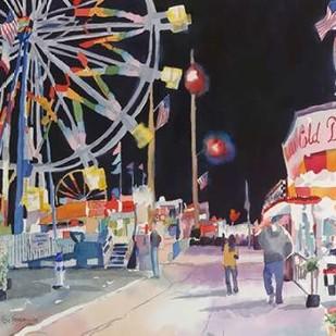 Bright Night Digital Print by Fagan, Edie,Impressionism