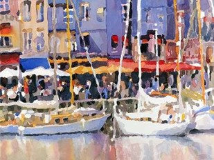 Honfleur Harbor Digital Print by Fagan, Edie,Impressionism