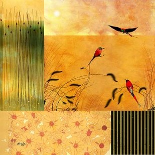 Bee Eaters Digital Print by Evelia Designs,Decorative