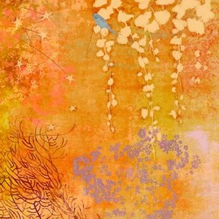 Ginger Fall III Digital Print by Evelia Designs,Abstract