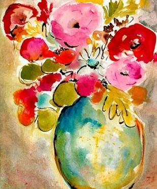 Pastel Vase II Digital Print by Minasian, Julia,Impressionism