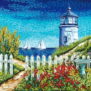 Lighthouse Retreat I Digital Print by Vitaletti, Carolee,Impressionism