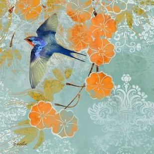 Blue Aurora II Digital Print by Evelia Designs,Decorative