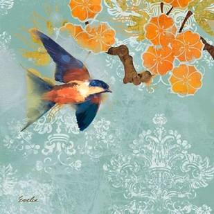 Blue Aurora III Digital Print by Evelia Designs,Decorative