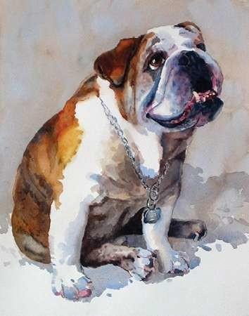 Major Wembly E. Bull Dog Digital Print by Fagan, Edie,Impressionism