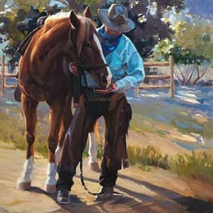 Pardners Digital Print by Hawley, Carolyne,Impressionism