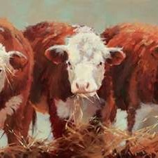 Three of a Kind Digital Print by Hawley, Carolyne,Impressionism