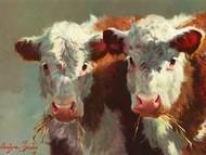 Cow Belles Digital Print by Hawley, Carolyne,Impressionism