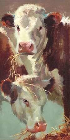 Hef n Her Digital Print by Hawley, Carolyne,Impressionism