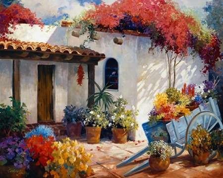 Casa Paloma Digital Print by Hawley, Carolyne,Impressionism