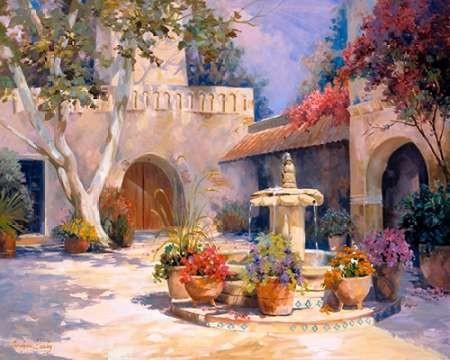La Fuente Digital Print by Hawley, Carolyne,Impressionism
