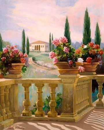 Tuscany Morning Digital Print by Hawley, Carolyne,Impressionism
