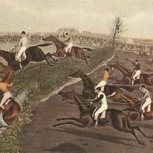 The Grand Steeple Chase II Digital Print by Turner, F.C.,Impressionism