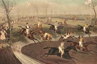The Grand Steeple Chase III Digital Print by Turner, F.C.,Impressionism
