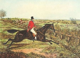 The English Hunt III Digital Print by Henry, Alken,Impressionism