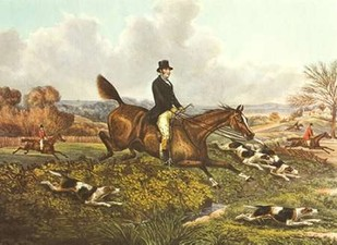 The English Hunt VII Digital Print by Henry, Alken,Impressionism