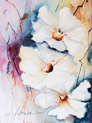 Blooms Aquas I Digital Print by Leticia Herrera,Impressionism