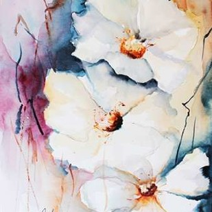 Blooms Aquas I Digital Print by Leticia Herrera,Impressionism