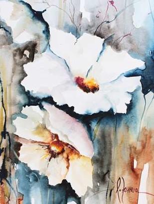 Blooms Aquas II Digital Print by Leticia Herrera,Impressionism
