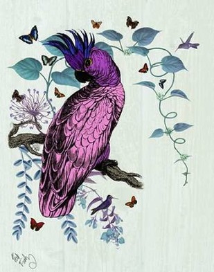 Pink Parrot Digital Print by Fab Funky,Decorative