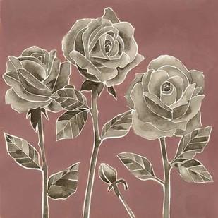 Marsala Roses II Digital Print by Popp, Grace,Decorative
