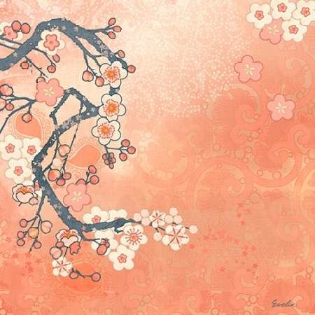 Tokyo Cherry I Digital Print by Evelia Designs,Decorative