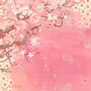 Tokyo Cherry II Digital Print by Evelia Designs,Decorative