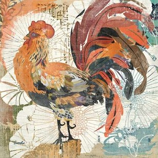 Rooster Flair II Digital Print by Evelia Designs,Impressionism