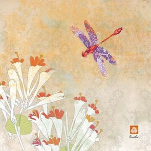 Dragonfly Lustre I Digital Print by Evelia Designs,Decorative