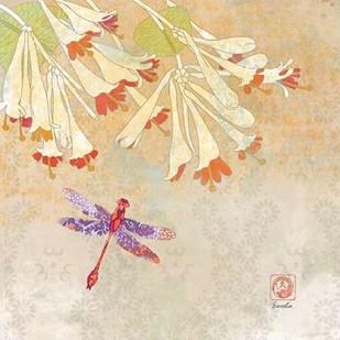 Dragonfly Lustre II Digital Print by Evelia Designs,Decorative