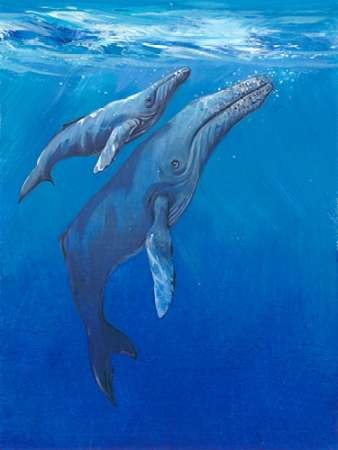 Under Sea Whales I Digital Print by Otoole, Tim,Impressionism