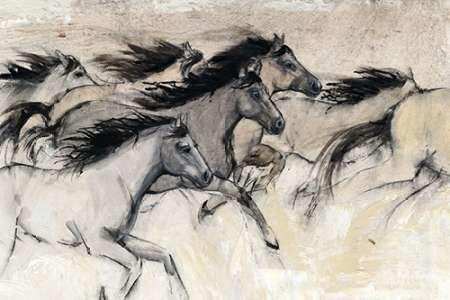 Horses in Motion I Digital Print by Otoole, Tim,Impressionism