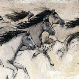 Horses in Motion I Digital Print by Otoole, Tim,Impressionism
