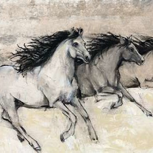 Horses in Motion II Digital Print by Otoole, Tim,Impressionism