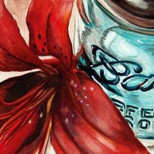 Ball Jar Flower II Digital Print by Redstreake,Impressionism